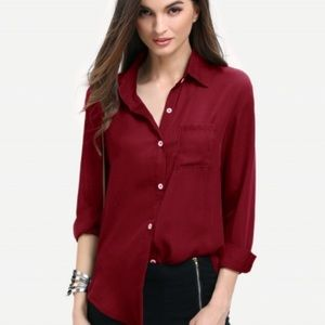 Mossimo Supply Co. Red button down shirt